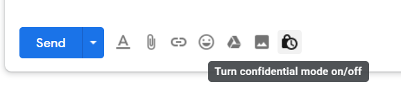 Gmail Turn confidential mode on/off
