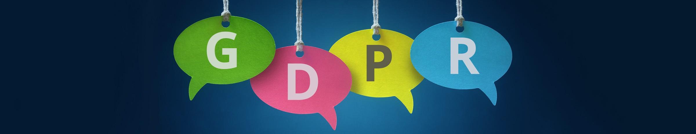 GDPR-kirjaimet puhekuplissa