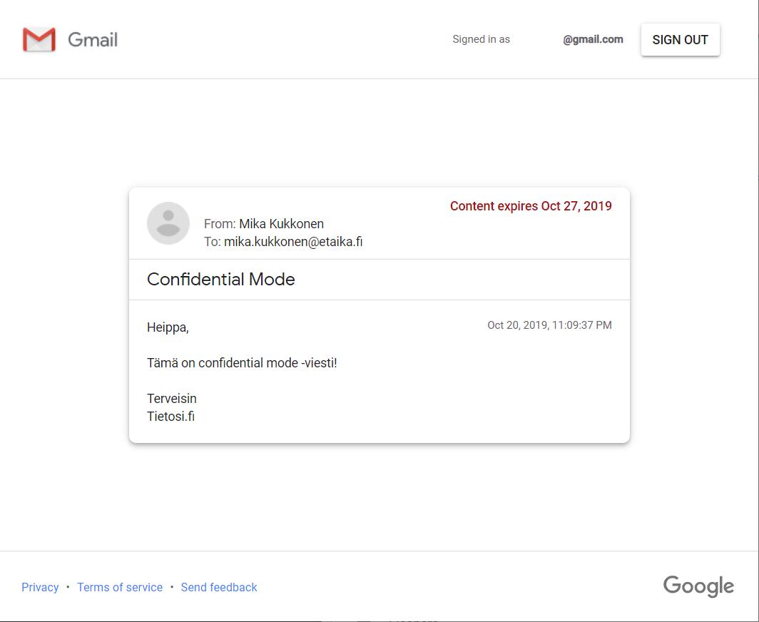 Gmail turvaposti